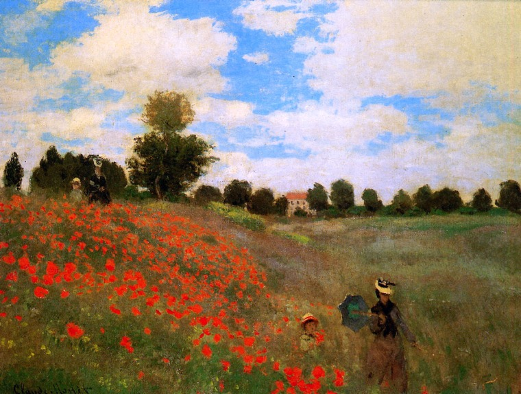 Claude Monet - Rose Field Near Argenteuil